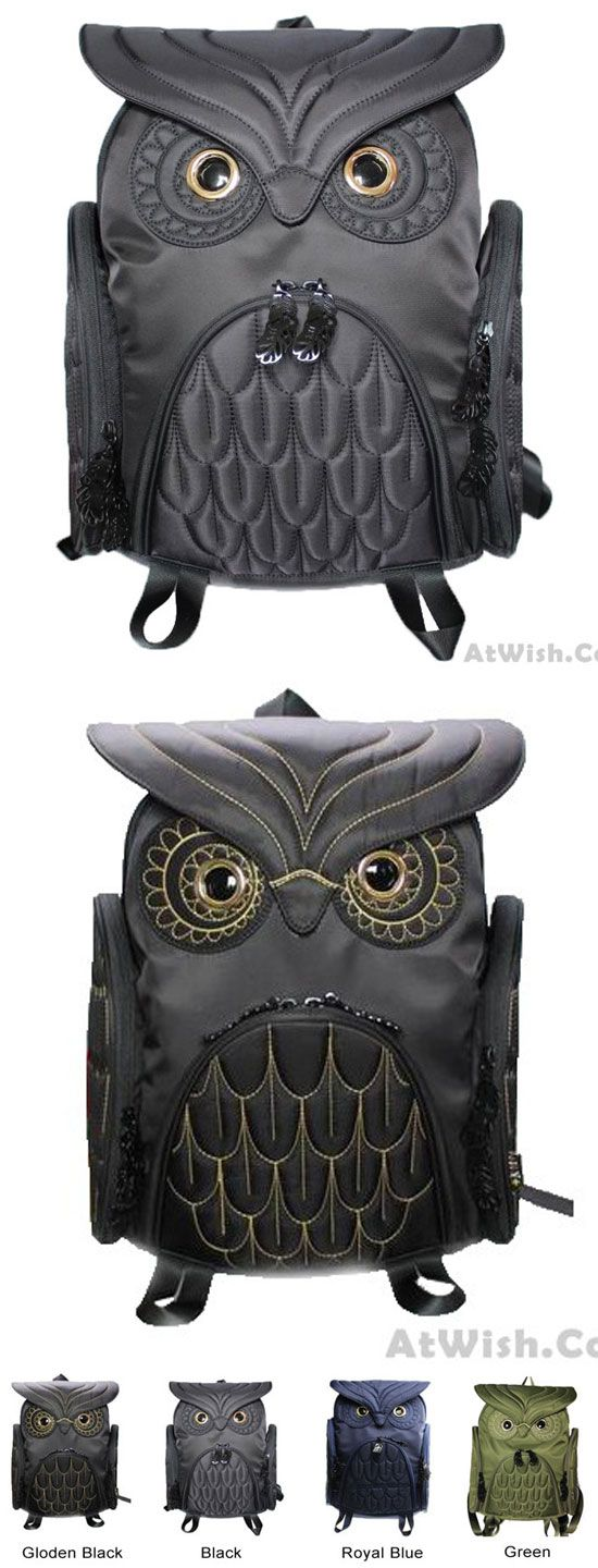 Fashion Street Cool Owl Shape Solid Computer Backpack School Bag Travel Bag for big sale! #school #bag #owl #animal #cute #backpack #rucksack