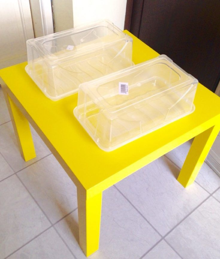 A mom places two plastic tubs on an IKEA table & her kids are thrilled