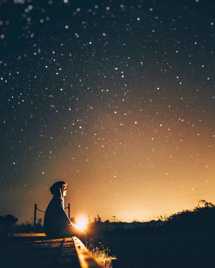 When the sun sets and the stars appear, I am there.