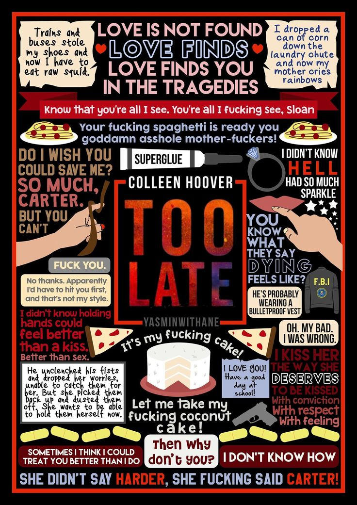 fan art by Yasminwithane. Too Late | Colleen Hoover