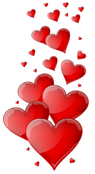 Red Hearts PNG Clipart Image