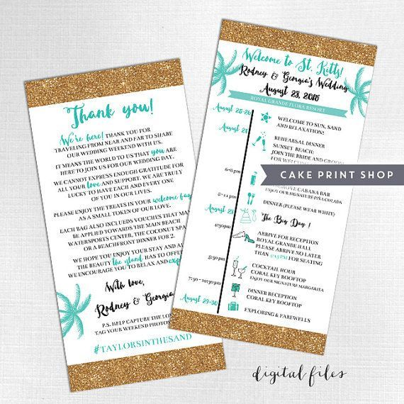 The 25 best wedding itineraries ideas on pinterest your printable wedding itinerary and welcome bag note destination wedding day itinerary hotel wedding welcome schedule junglespirit Images