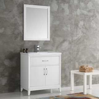 Photo Album For Website Shop for Fresca Cambridge White inch Traditional Bathroom Vanity with Mirror Get free