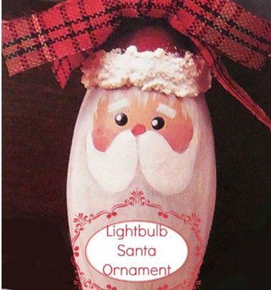 DIY lightbulb Santa ornament // Mikulásos karácsonyfadísz villanykörtéből // Mindy - craft & DIY tutorial collection