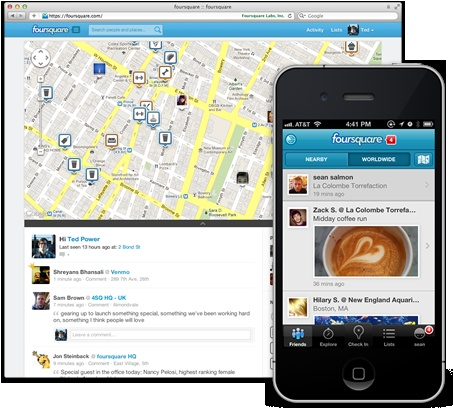 Foursquare - Reinventing how we find each other and socialize  #mobility #cloud #design