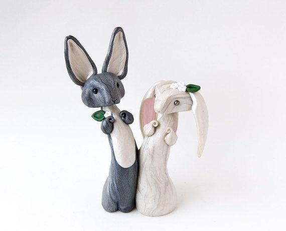 Bunny Rabbit Wedding Cake Topper Wedding Decor by BonjourPoupette, $89.00 or this topper!!!! MINE