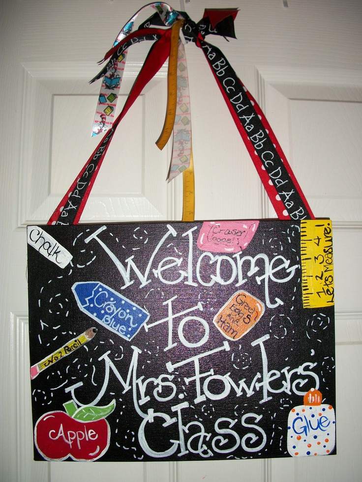Classroom Decor Gifts ~ Great teacher gift teachers classroom welcome door sign
