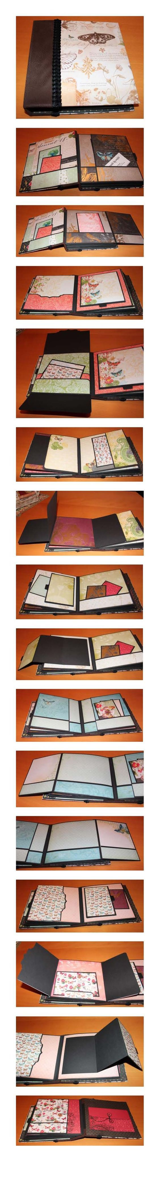 8x8 mini album - using DCWV Mariposa stack: