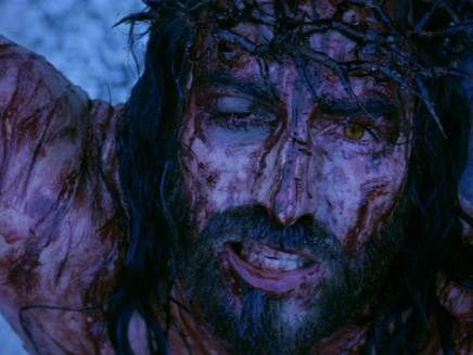 """O Jesus, who in thy cruel Passion didst become the """"Reproach of men and the Man if Sorrows"""", I worship thy divine Face."""