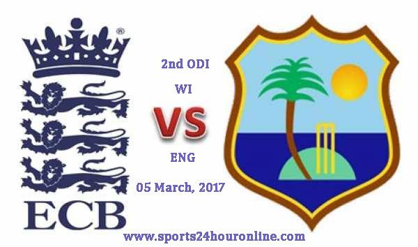 WI vs ENG 2nd ODI Live Cricket Score 05 Mar, 2017 Live Commentary, Live Score, Ball by Ball Updates, WI vs ENG 2nd ODI Match Preview, Match Prediction
