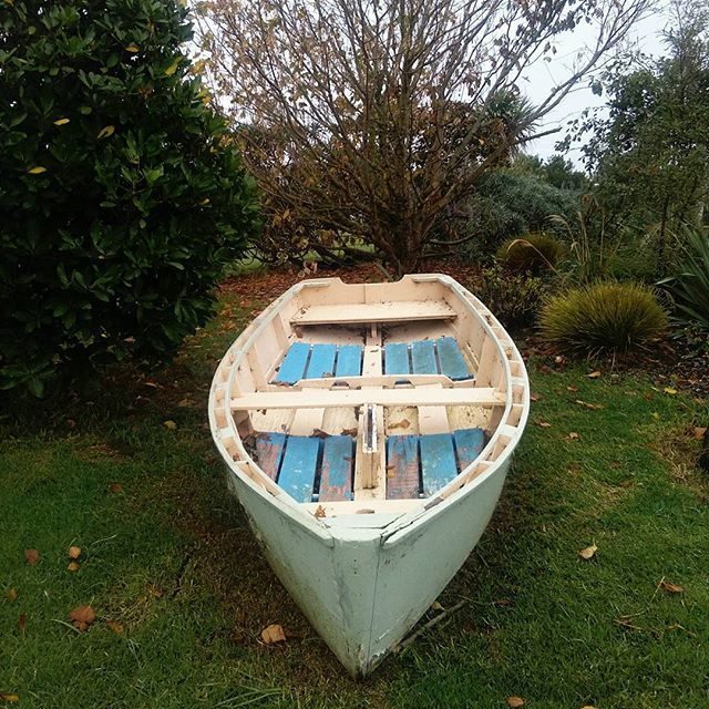 The boat at Lake House Arts Centre, how did it get there? #boat #garden #mystery