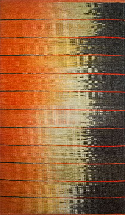 Tierra Amarillo Ikat Rug, Connie Enzmann-Forneris
