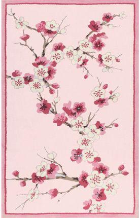 The Rug Market Kids Cherry Blossom Pink Rug Item #: 10312303-P
