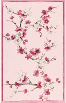 The Rug Market Kids Cherry Blossom Pink Rug Item #: 10312303-P