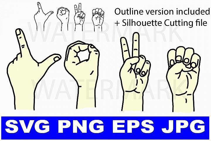 Download I love you in Sign Language - svg png eps jpg   I love you ...