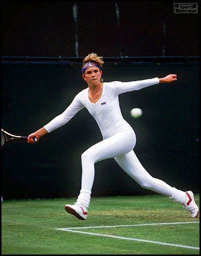 wimbledon whites | Anne White Shocks Wimbledon With Bodysuit – Happened In The 80s ...