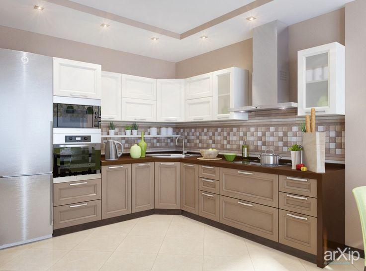 Дизайн кухонь #interiordesign #3dvisualization #apartment #house #kitchen #cuisine #table #cookroom #artdeco #wall #10_20m2 #interior