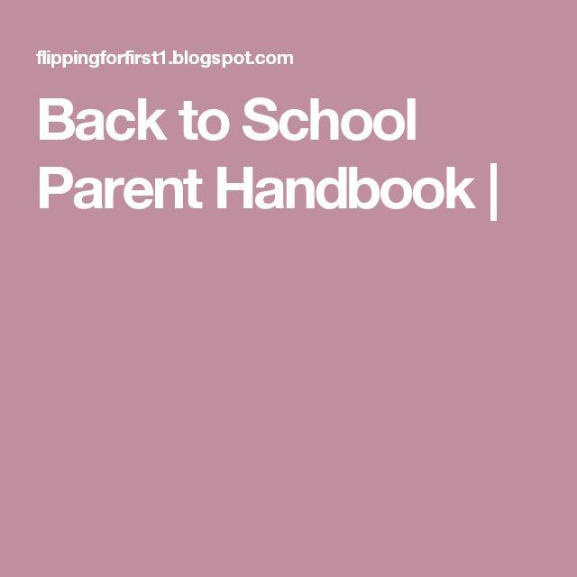 The 25+ best Parent handbook ideas on Pinterest Flip book - handbook template word