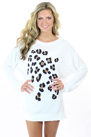 leopard spots sweater / wildfox couture