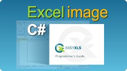 Export Excel file with image into sheet using EasyXLS library! XLS, XLSX, XLSM, XLSB file in .NET. #Excel #Image #Write #Export #CSharp #EasyXLS