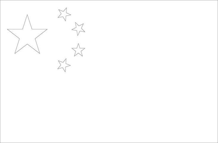 Drapreau : Drapeau de la Chine à colorier : 0