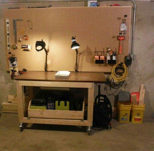 Do It Yourself Garage Workbench Plans: Best 25+ Heavy Duty Workbench Ideas On Pinterest