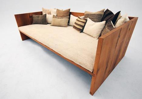 Gürsan Ergil On Designing Furniture From Reclaimed Wood: 'The - Reclaimed Wood Daybed WB Designs