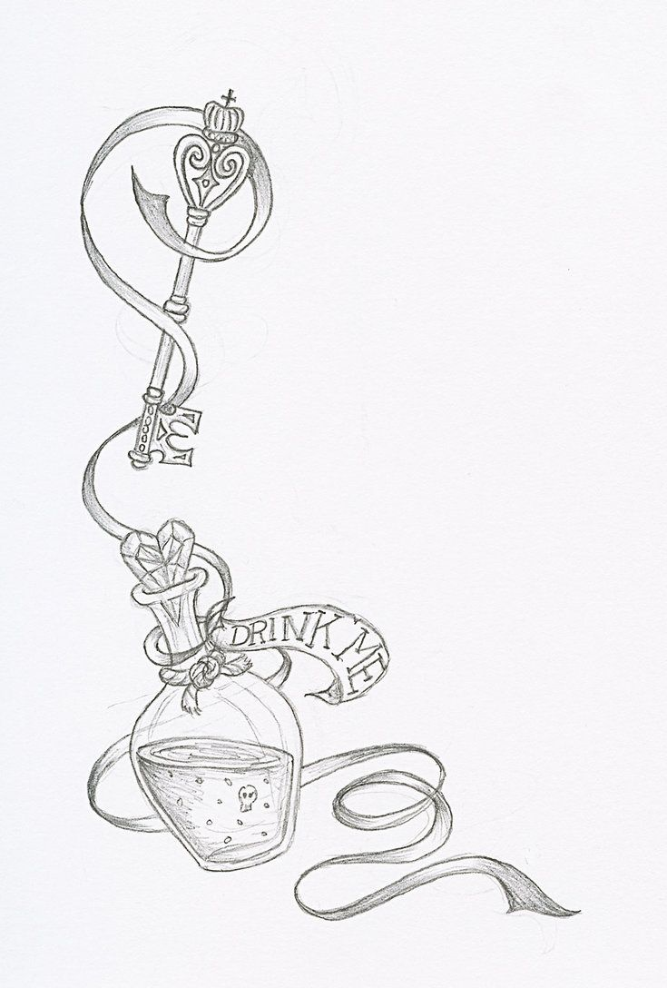 Alice In Wonderland tattoo idea
