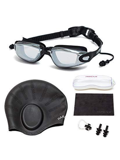0b8792b8fa1 HAIREALM Prescription Swimming Goggles(Myopia 0-8.0 Diopters ...