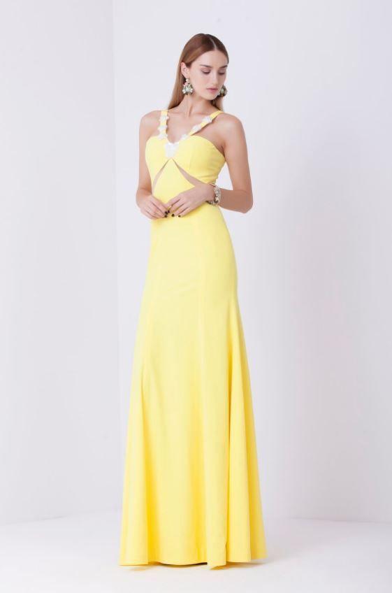 abito donna giallo