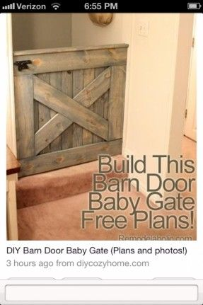 Rustic dog or baby gate
