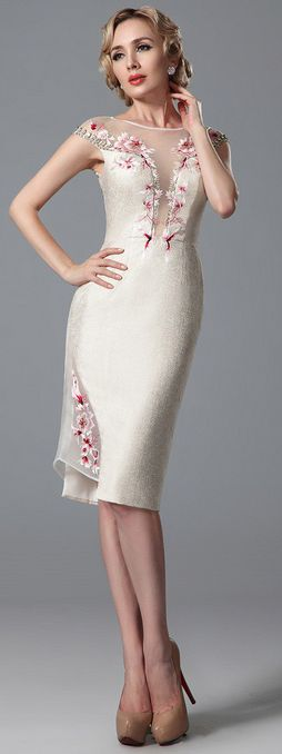 Golden color embroidery party dress daily wear
