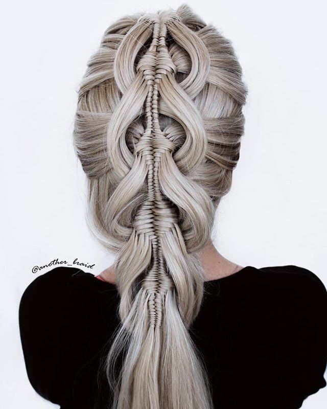Four strand diamond braid