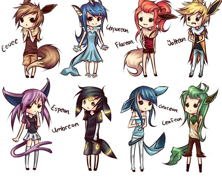 Eevee Evolutions On Deviant Art Pfft I Dont Like
