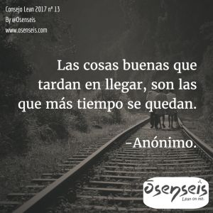 Consejo Lean 2017 nº 13   Osenseis Lean S.L.