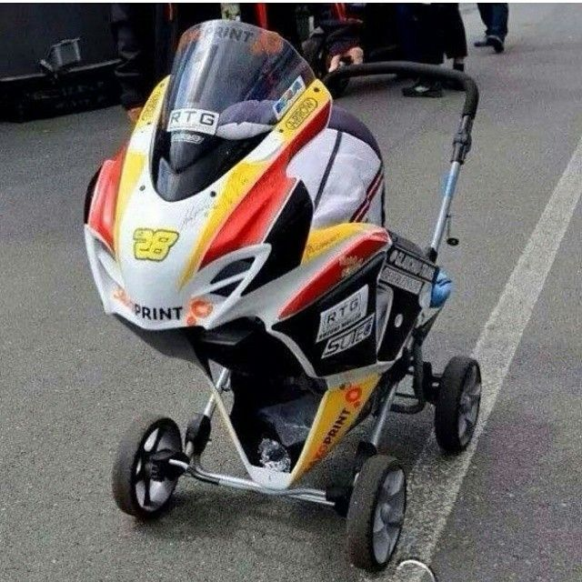 The ultimate moto baby stroller gsxr motorcycle Motorized baby stroller