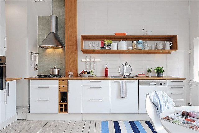 white kitchens w/wood details rule