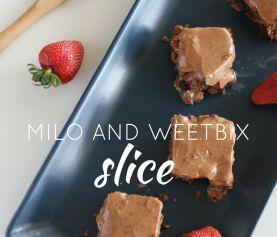 Milo and Weetbix Slice