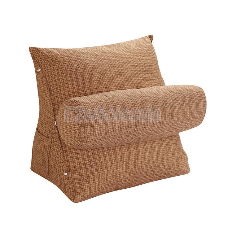 Lazy Boy Sofa Sofa Bed Couch Stuffed Throw Pillow Pad Support Bolster Waist Cushion Brown