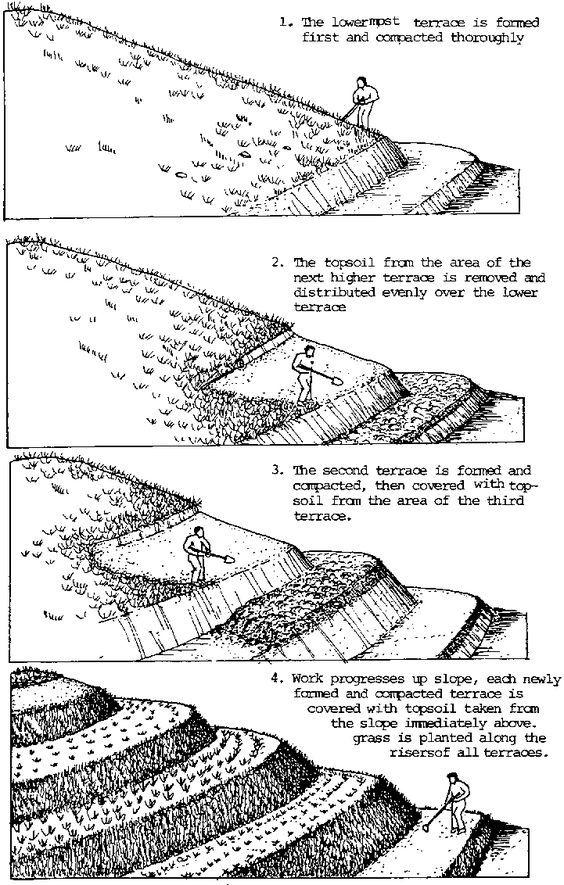 25 best ideas about soil conservation on pinterest for Terrace farming diagram