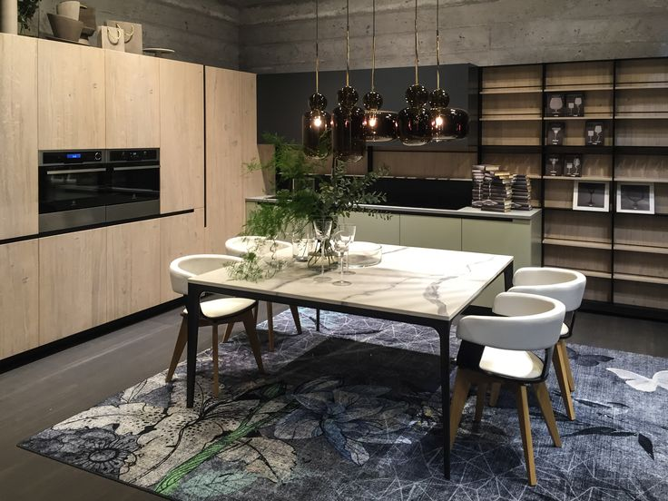 Introducing the new Lab 13 kitchen from Aran Cucine at @isaloni New styles, new colors, new materials! Available soon at European Cabinets & Design Studios!