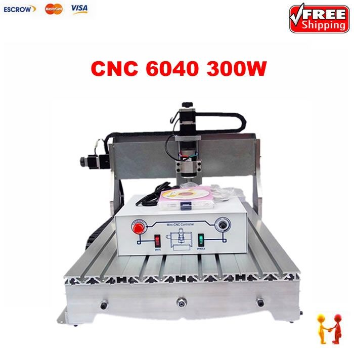 1189.00$  Watch now - http://alix19.worldwells.pw/go.php?t=32764172157 - Factory price woodworking machinery CNC router 6040 engraver with 300W, hobby cnc milling machine for wood 1189.00$