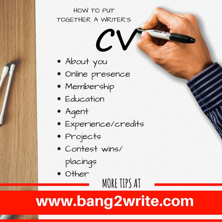 How To Put Together A Writer's CV / Resumé