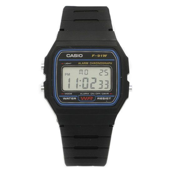 A-Watches.com - Casio Digital Alarm Chronograph Quartz Sports F-91W-1, $13.00 (http://www.a-watches.com/casio-quartz-f-91w-1/)