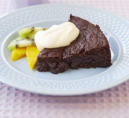 Get kids cooking at the weekend by baking this yummy brownie cake, much better than shop bought