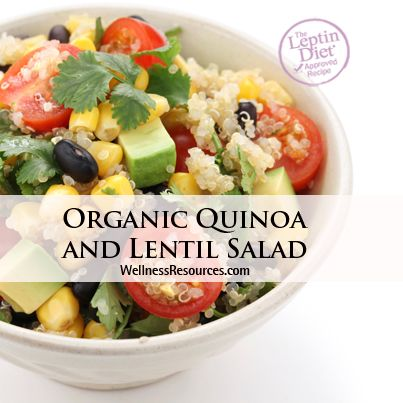 Enjoy this delicious and protein-packed organic quinoa salad! www.wellnessresources.com