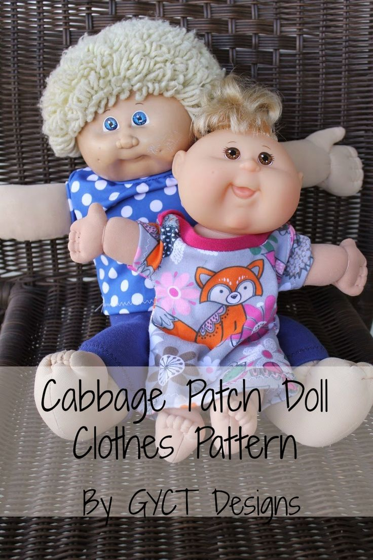 "Oberteil, Hose, Body für die Puppe nähen 12""&17"" Free Baby Doll Clothing Patterns from GYCT"