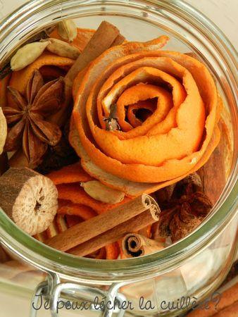 Fleurs d'agrumes aux épices pour infusion