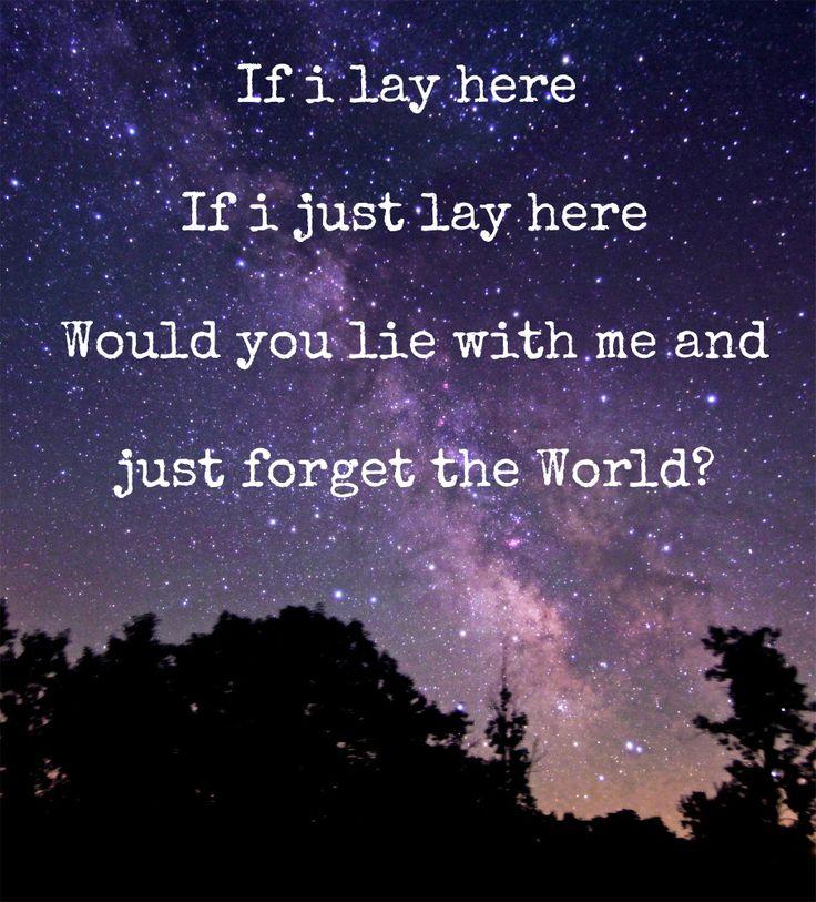 Chasing Cars, Snow Patrol. Night Sky Song Lyrics