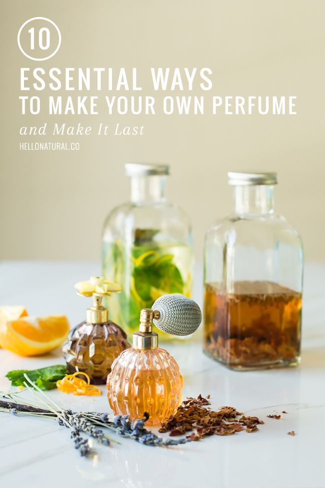 10 Ways to Make Your Own Perfume (and Make It Last) | HelloNatural.co